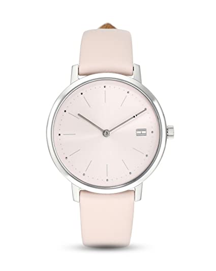 a197b4ec Tommy Hilfiger Womens Pippa Pale Pink Leather Strap 1781925: Amazon.co.uk:  Watches