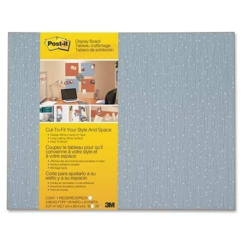 Wholesale CASE of 10 - 3M Post-it Cut-to-Fit Display Boards-Cut-To-Fit Office Display Board, 18''x23'', Ice by 3M