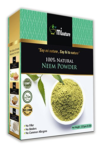 Natural Neem Powder (Azardirachta Indica) 227 Gram (0.5 lb) Non GMO Supplements for Glowing Skin, Hair, Nails, Supports Digestion, Anti-oxidant, Supports Healthy Blood Sugar, Cholesterol, More ()