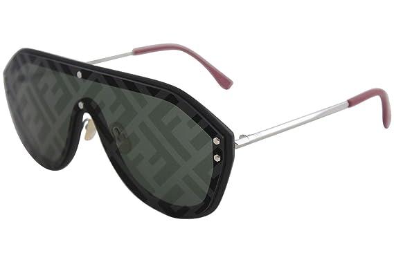 0c792e3e65 Amazon.com  Fendi Fabulous FF M0039 G S Black Green 99 1 145 Men ...