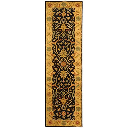 Safavieh Antiquities Collection AT14B Handmade Traditional Oriental Black Wool Runner (2'3