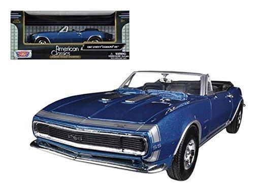 Motormax 73301 1967 Chevrolet Camaro SS Convertible Blue 1/24 Diecast Car (Ss Convertible Diecast Model)