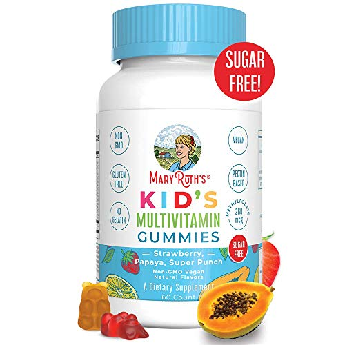 Vegan Kids Multivitamin Gummies by MaryRuth - Organic Ingredients - Immune Boost - Methylfolate - Sugar Free - Non-GMO Vitamin Chewables 60ct