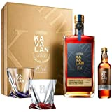 【Kavalan10周年特別限定品】カバラン ポイヤック ワインカスク シングルモルト クリスタルガラス2脚付セット 1000ml 57.8度 台湾 ウイスキー Kavalan Bordeaux Pauillac cask whisky カヴァラン [長S]