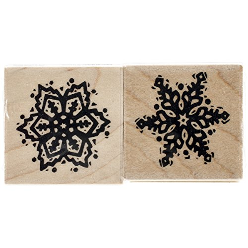Dragonfly Mini Stamps - Inkadinkado Christmas Mounted Rubber Stamp, Snowflake, 3 by 1.5-Inch
