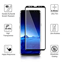 Galaxy S9 Screen Protector,ACETEND Samsung S9 Tempered Glass Protector,Case Friendly,3D Curved,HD Clear,Scratch Resistant,Bubble Free,Glass Screen Protector from ACETEND