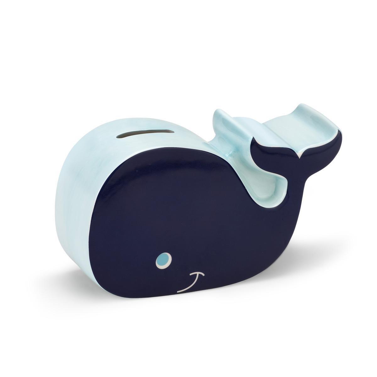 DEMDACO Piggy Bank, Blue Whale
