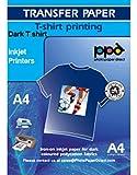 Photo Paper Direct Inkjet Papel Transfer en camisetas oscuros, DIN A4, 10 hojas
