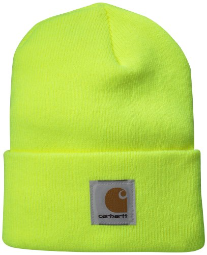 Carhartt Men's Acrylic Watch Hat A18, Brite Lime, One Size