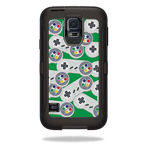 MightySkins Protective Vinyl Skin Decal for OtterBox Defender Samsung Galaxy S5 Case wrap cover sticker skins Retro Controllers 1