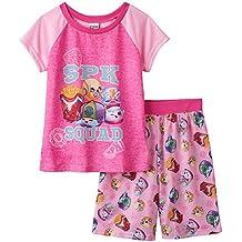 Girls Pajamas Short Set Shopkins Sneaky Wedge Baseball Cap SPK Squad