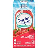 Crystal Light On The Go Wild Strawberry with Caffeine, 10-Count Boxes (Pack of 10)