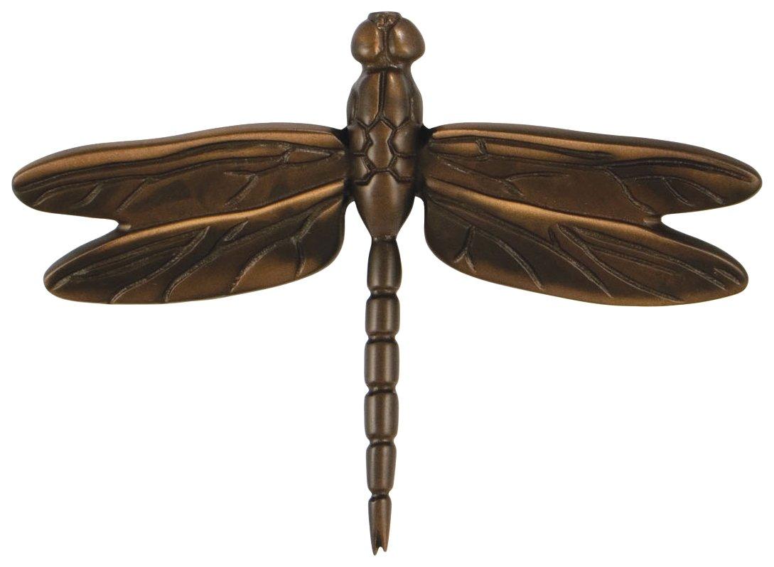 Michael Healy Designs MHS23 Dragonfly in Flight Door Knocker (Standard Size), Oiled Bronze