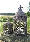 Vintage Moorish Lantern Candle Holder, Set Of 2