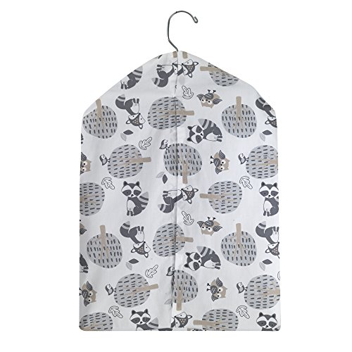 Bedtime Originals Little Rascals Forest Animals Diaper Stacker, White/Gray