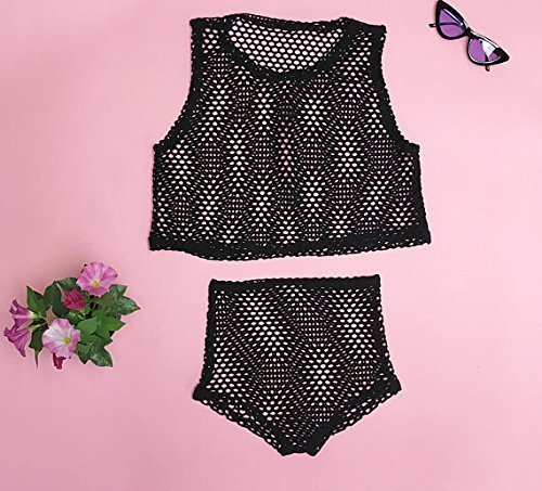 Beach Bikini Swimsuit FISHNET Cover Up High Waist Bikini Set   DSY Lifestyle ()