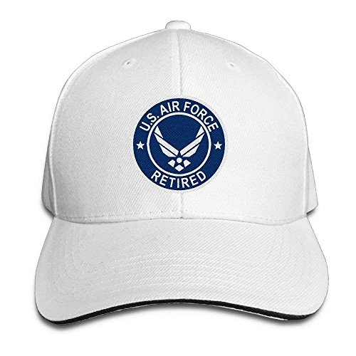 Fashion Adults Baseball Caps US Air Force Retired Embroidery Sun Trucker Hats