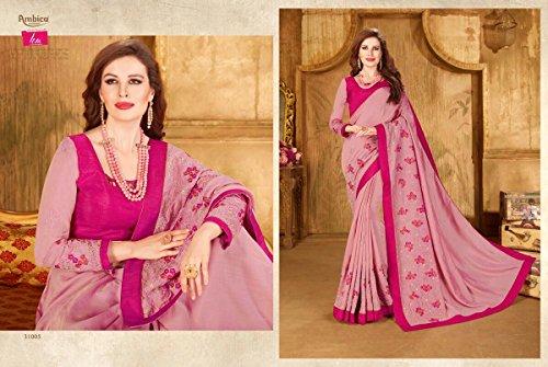 ETHNIC Donna Matrimonio Banarasi Dirndl EMPORIUM Saree 2672 Seta da Ragazze Donna Nuova Camicetta Indiano Sari Bollywood Tradizionale Costume rqfrYwA