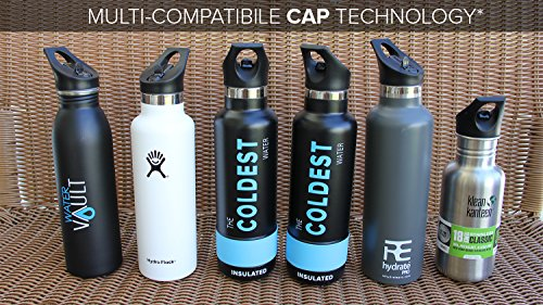The Coldest Water Standard Size Mouth Hydro Sports Straw Cap Flip ...