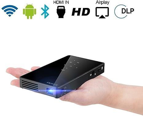 Kobwa DLP proyector, LED WiFi Smart Mini Proyector portátil ...