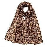 Women Fashion Leopard Pattern Animal Print Shawl Scarf Wrap, Extreme Soft lightweight Shawl For Any Season