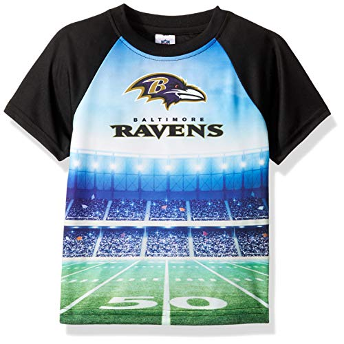 - NFL Baltimore Ravens Unisex Short-Sleeve Tee, Black, 3T
