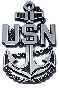 Amazon.com: US Navy Anchor Auto Emblem: Automotive