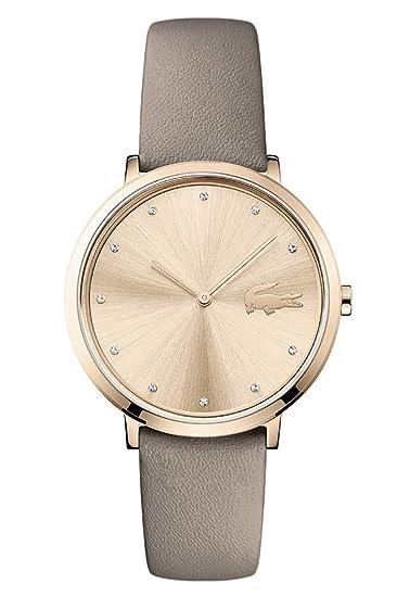 Lacoste Reloj Analógico para Mujer de Cuarzo con Correa en Cuero 2001039: Amazon.es: Relojes