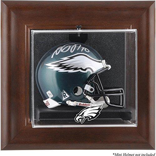 Brown Football Display Case (Mounted Memories Philadelphia Eagles Brown Frame Mini Helmet Display Case)