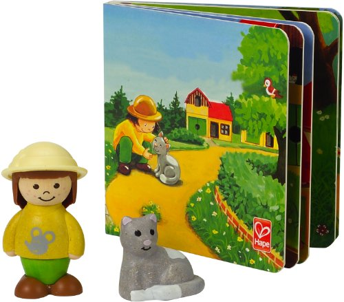 Hape My Pet Kitty Wooden Figure Set with Book