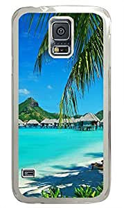 custom made Samsung Galaxy S5 cases Hawaii Beachs PC Transparent Custom Samsung Galaxy S5 Case Cover