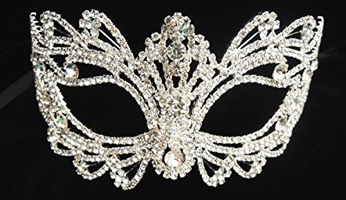 Rhinestone crystal masquerade mask -wedding mask -Halloween mask