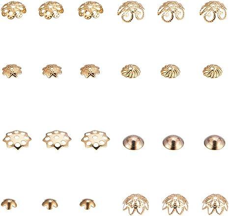 per Fare Bracciali Accessori Fai-da-Te Fatti a Mano per Ragazze Perline Distanziali Misti di Perle Collane e Gioielli Dulau 180 Pezzi 6 Tipi di Tappi di Perle Gioielli in Lega a Forma di Fiore