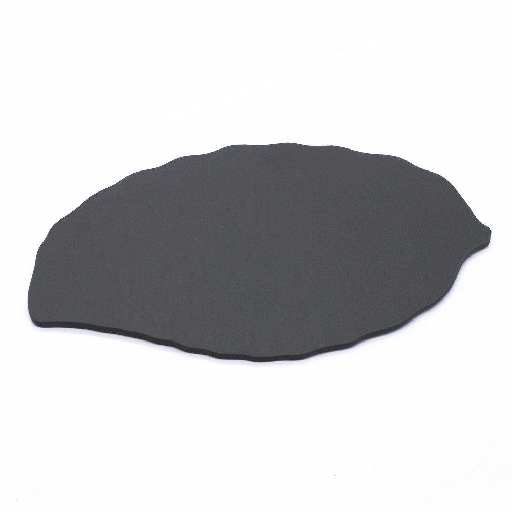 ZHU YU CHUN Slate Cheese Board, Leaf-Shaped Sushi Serving Tray Plate, 11 Inch