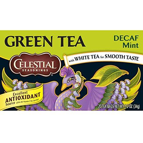 Celestial Seasonings Decaf Mint Green Tea, 20 Count (Pack of