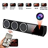WiFi Spy Camera Bluetooth Speaker - Mini Spy Camera 1080p 160 Degrees Wide Angle - Hidden Spy Camera Motion Detection for Home