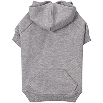 "Zack & Zoey Basic Hoodie for Dogs, 24"" X-Large, Heather Gray"