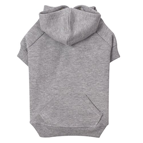 "Zack & Zoey Basic Hoodie for Dogs, 16"" Medium, Heather Gray"