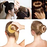 Small Hair Donut Bun Ring Shaper Styler Maker Tools (BROWN)