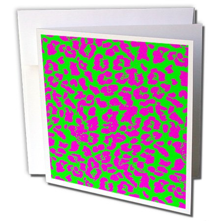 (Cassie Peters Animal Print Abstract - Neon Cheetah Abstract by Angelandspot - 1 Greeting Card with envelope (gc_240289_5))