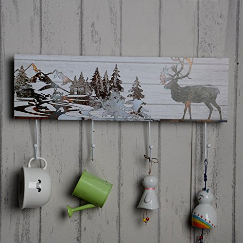 Hook Wall Paintin Hook Gift Arts and Crafts Creative Ornaments Home Furnishing Woodiness Decoration by HEUE