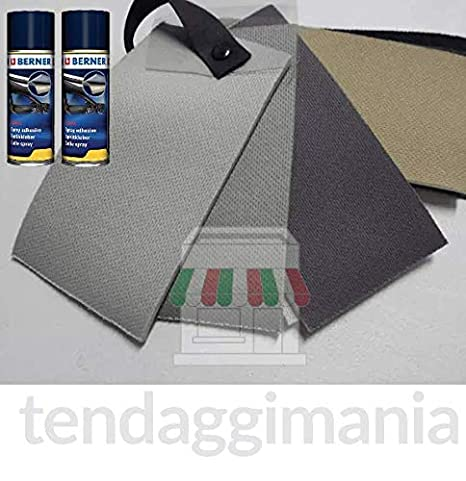 Kit de revestimiento de Tejido Cielo Techo Coche + pegamento Altas temperaturas Spray Berner 3 MT + 2 COLLE SPRAY 1440 NERO: Amazon.es: Coche y moto