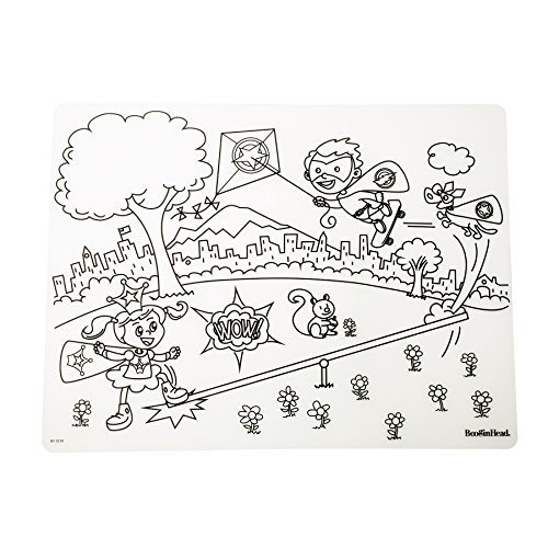 e Coloring Placemat, Food-Grade Silicone - Super Power ()