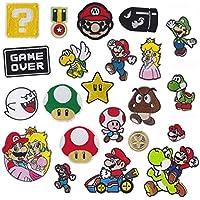 XIANGAN Super Mario stickers 17stks/partij Cartoon Dier Borduurwerk Patches Voor Kleding DIY Ijzeren Patches Op Kleding…