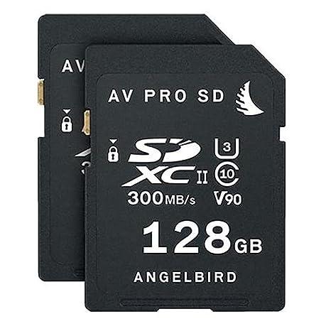 Angelbird 2 x AV Pro SD 128 GB SDXC UHS-II U3 Clase 10 V90 ...