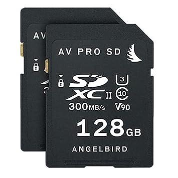 Angelbird 2x AV PRO SD 128GB SDXC UHS-II U3 Class 10 V90 Memory Card Match Pack for Panasonic EVA1 Camera