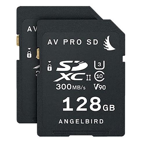 Angelbird 2x AV PRO SD 128GB SDXC UHS-II U3 Class 10 V90 Memory Card Match Pack for Panasonic EVA1 Camera ()