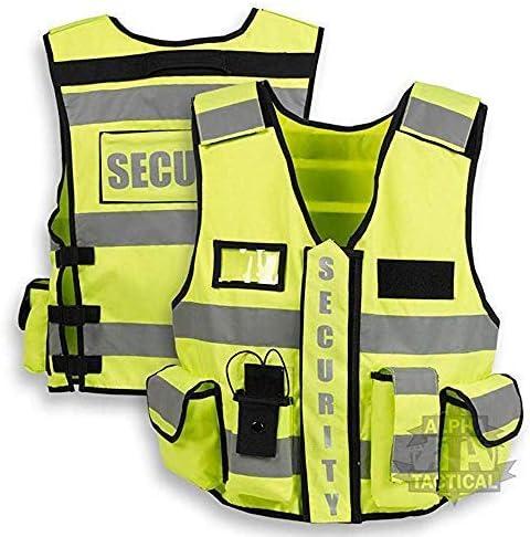 Hi-Viz yellow tactical security vest