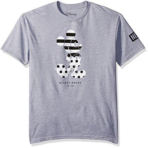 Neff Stripe - Disney Men's Neff Stripe a Dot Mickey Mouse T-Shirt, Athletic Heather, Large