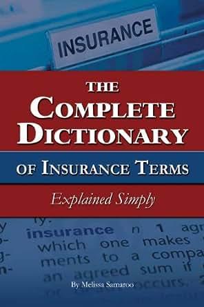 Insurance Terms Explained Simply eBook: Melissa Samaroo: Kindle Store